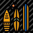 surfboard, beach, surfing, sports, surf