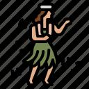 hawaiian, dancing, show, woman, people