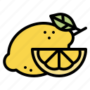 lemon, fruit, food, healthy, natural