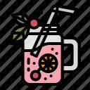 punch, tropical, juice, drink, beverage