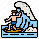surf, beach, surfboard, surfing, summertime