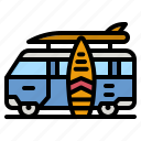 van, surf, car, vehicle, transport