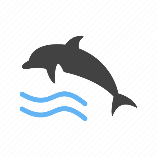 Dolphin, fish, marine, ocean, swim, water, whale icon - Download on Iconfinder