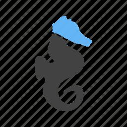 animal, marine, ocean, sea, sea animal, sea horse, swim icon