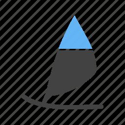 equipment, surfer, surfing, surfing board, water, wind surfing icon