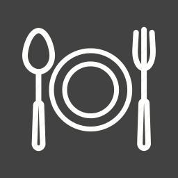 dinner, eat, food, fork, plate, restaurant, spoon icon
