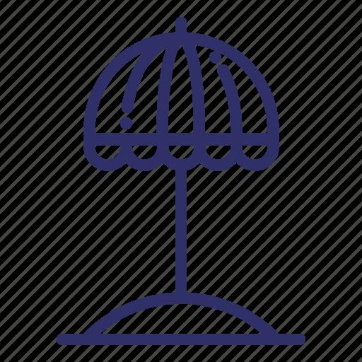 beach, cap, parasol, protection, summer, umbrella icon