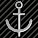 anchor, sea, ship icon