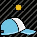 baseball, cap, sunny icon
