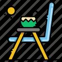 beach, chair, coconut, sun icon
