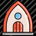 beach, bungalow, house icon