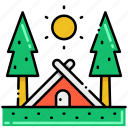 camping, nature, outdoor, tree icon