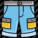 cargo, shorts, vacation icon