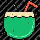 coconut, drink, milk
