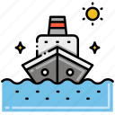cruise, holiday, ship icon