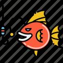 deep, fish, sefishing icon