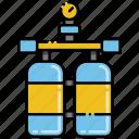 diving, oxygen, tank