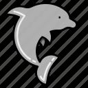 dolphin, fish, sea icon