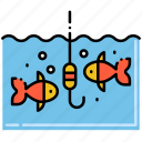 fishing, hook, fishes, ocean icon