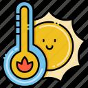 high, hot, sun, temperature icon