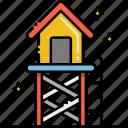 hut, lifeguard, tower icon