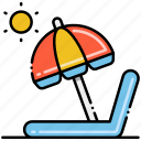 parasol, sun, sunny icon