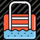 pool, private, swim icon
