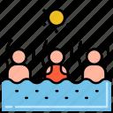 pool, public, sun, swimmers icon