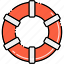 buoy, life, ring, rubber icon