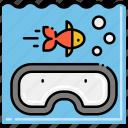 diving, fish, scuba, snorkel icon