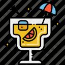 cocktail, cold, mini umbrella, summer icon
