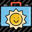 briefcase, job, summer, work icon