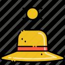 hat, sun, sunny icon