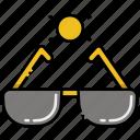 shades, sun, sunglasses icon