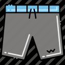 shorts, swimming, swimwear icon