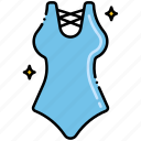 one, piece, swimsuit icon