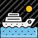 ocean, sea, sunny, yacht