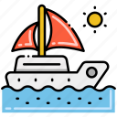 ocean, sea, sun, yacht