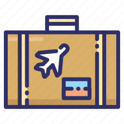 bag, briefcase, summer, travelling icon