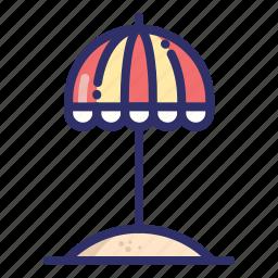 cap, parasol, protection, summer, umbrella icon