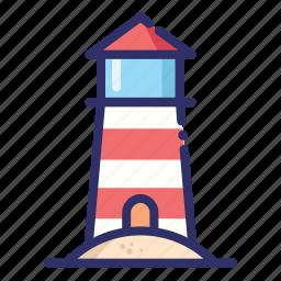 beach, lighthouse, summer, tower icon