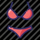 bathing suit, bikini, summer, swimwear, underwear, clothes, woman