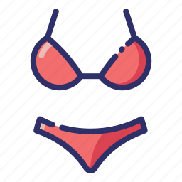 bathing suit, bikini, clothes, summer, swimwear, underwear, woman icon