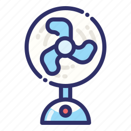 cooling, electric, fan, hot, summer, weather, wind icon