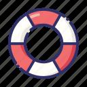 lifebuoy, float, ring buoy, rescue, summer icon