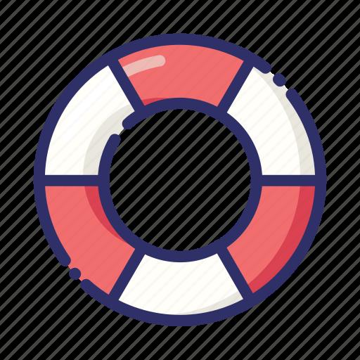 float, lifebuoy, rescue, ring buoy, summer icon