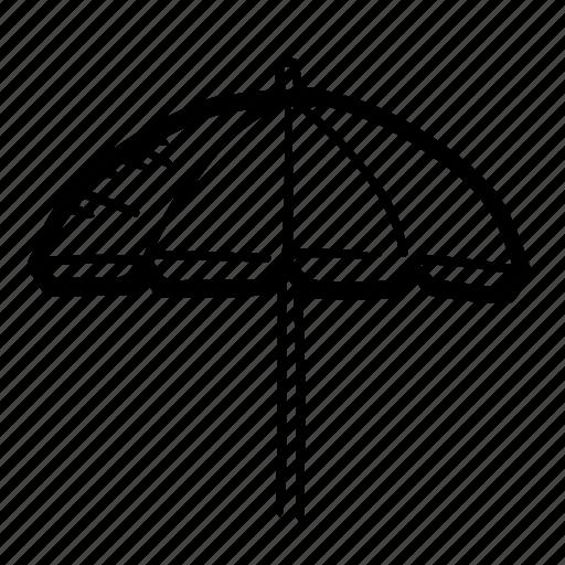 beach, protection, rain, summer, tourism, umbrella, vacation icon