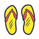 beach, foot wear, footwear, holiday, sandals, summer, vacation icon