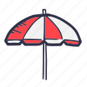 beach, decoration, holiday, sea, summer, umbrella icon