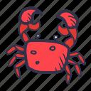 animal, beach, crab, fish, sea, summer icon